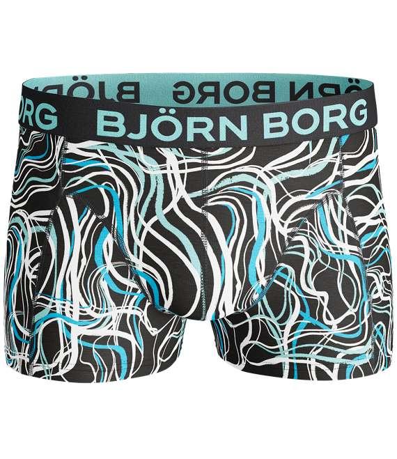 Björn Borg | 2p SHORT SHORTS BB SWIRL & BB SPLASH Black