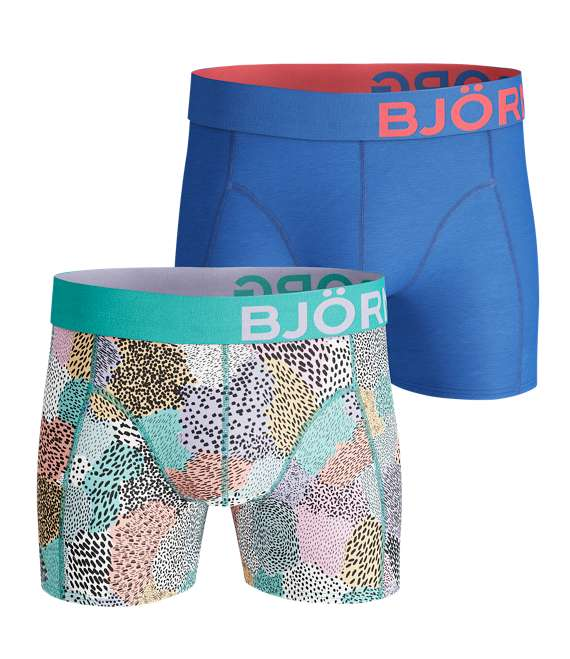 Björn Borg | 2p SHORTS BB PAINTED ANIMAL Aruba Blue