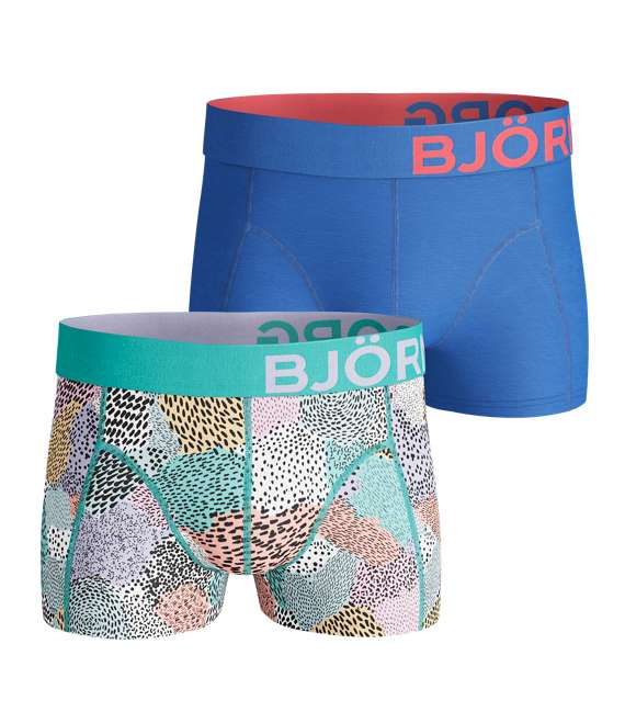 Björn Borg | 2p SHORT SHORTS BB PAINTED ANIMAL Aruba Blue