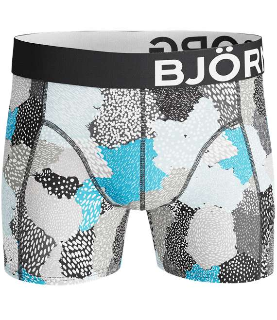 Björn Borg | 2p SHORTS BB PAINTED ANIMAL & BB SUMMER STRIPE Black