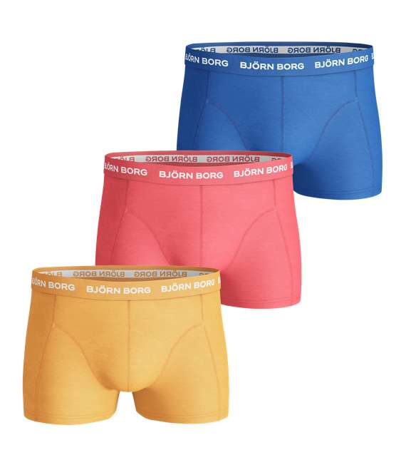 Björn Borg | 3p SHORT SHORTS SEASONAL SOLIDS Blazing Orange