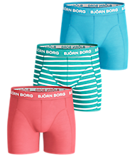 Björn Borg STRIPE BOYS SHORTS Duberry 3-PACK