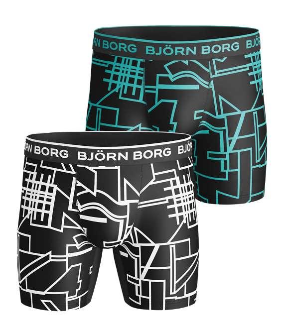 Björn Borg | 2p SHORTS BB MULTI COLLAGE OUTLINE White