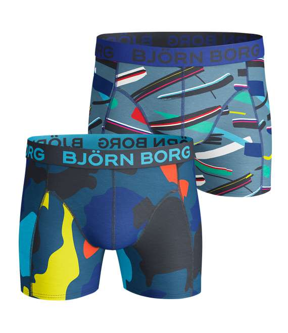 Björn Borg | 2p SHORTS BB BLOCKS & BB STROKE Total Eclipse