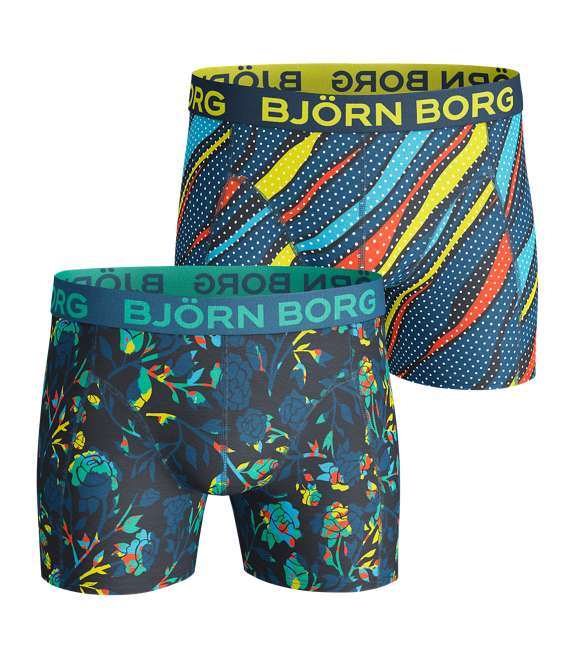 Björn Borg | 2p SHORTS BB FLORAL & SPLASHES Mykonos Blue