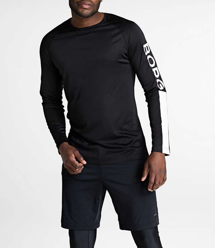 Björn Borg | 1p LONG SLEEVE TEE AARON Black Beauty