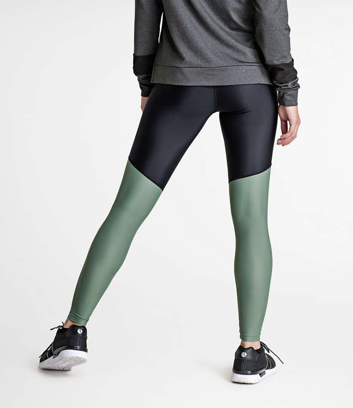 Björn Borg | 1p HIGH WAIST TIGHTS CLARA Olive Night