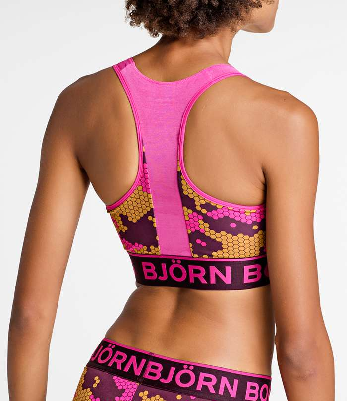 Björn Borg | 1p SPORT TOP BB CAMO GRID Fuchsia Purple