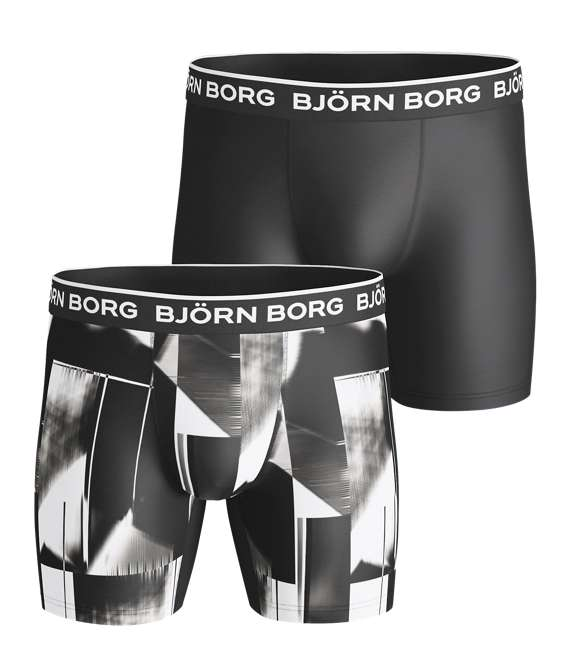 Björn Borg | 2p SHORTS BB ABSTRACT COURT Brilliant White