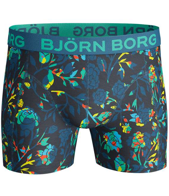 Björn Borg | 3p SHORTS BB FLORAL & BB SPLINTER Mykonos Blue