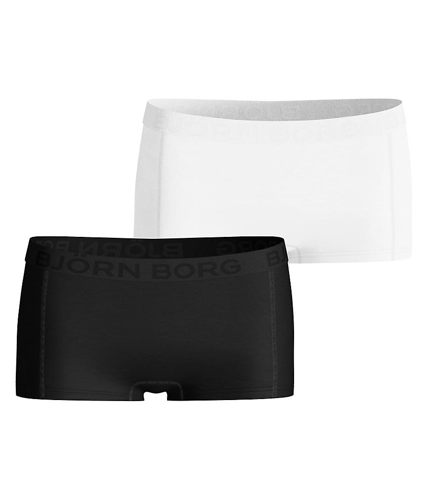 BB Mini Shorts Black/White 2-pack