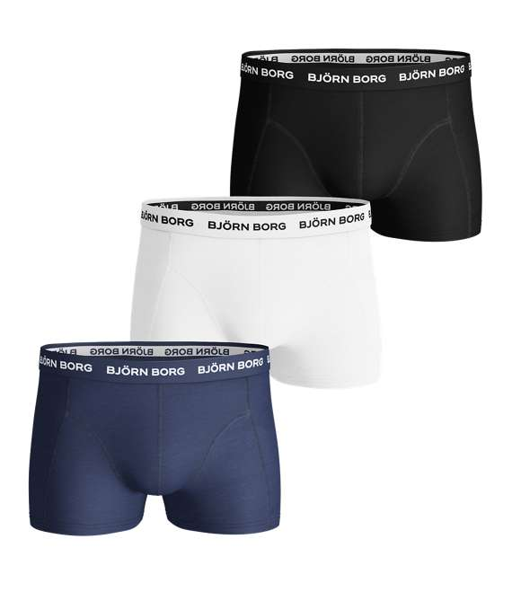 Björn Borg | 3p SHORT SHORTS NOOS SOLIDS Blue Depths