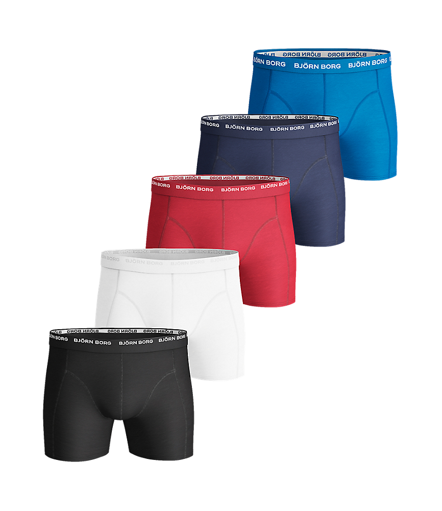 BB SOLID Cotton Stretch SHORTS Black 5-pack