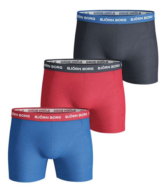 Björn Borg | 3p SHORTS NOOS CONTRAST SOLIDS Skydiver