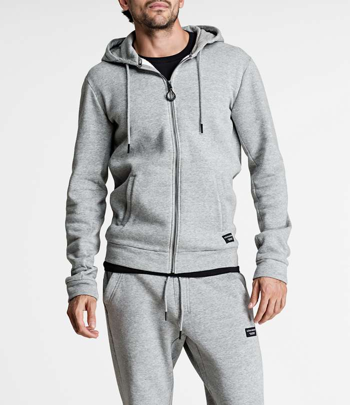 Björn Borg | 1p HOODIE BBCENTRE H108BY LIGHT GREY MELANGE