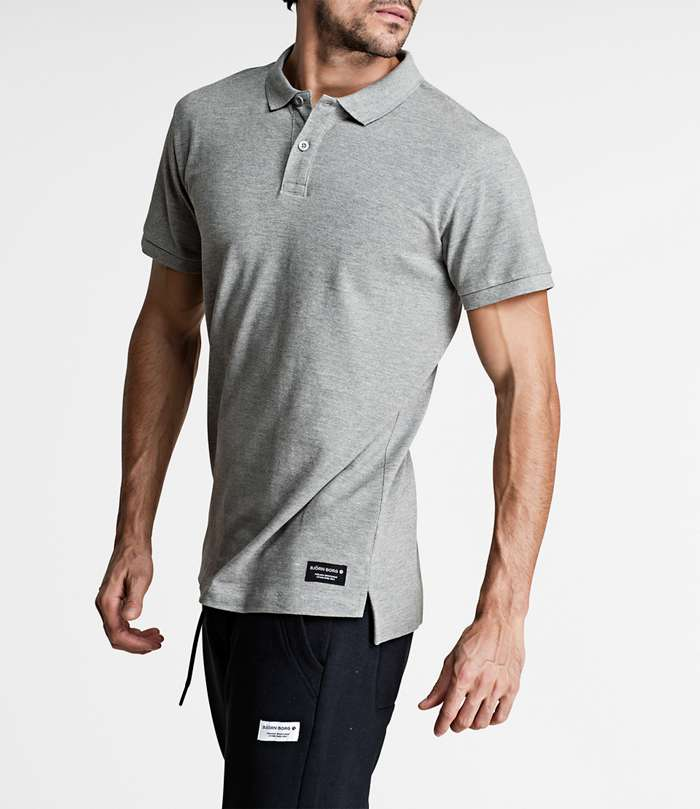 Björn Borg | 1p POLO BBCENTRE H108BY LIGHT GREY MELANGE