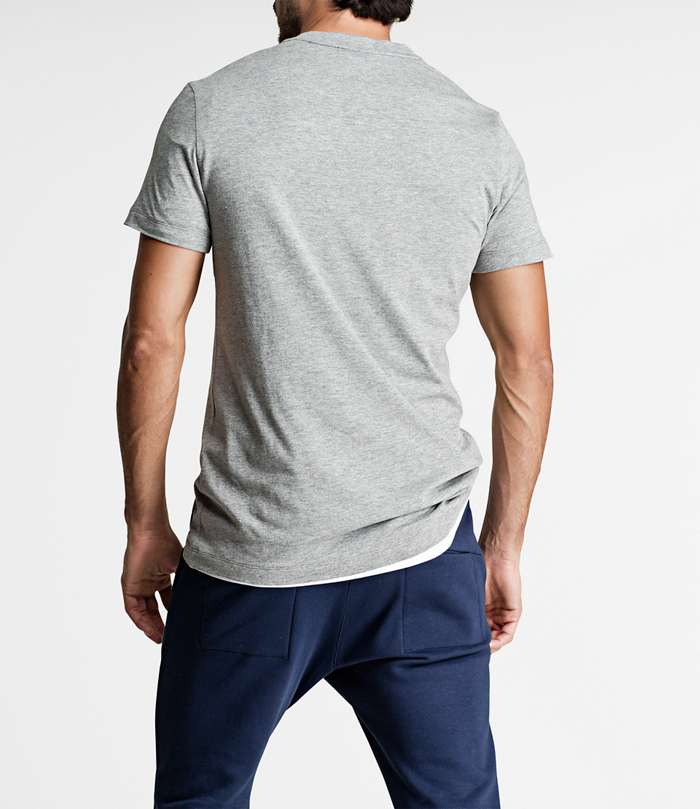 Björn Borg | 1p REGULAR TEE BBCENTRE H108BY LIGHT GREY MELANGE
