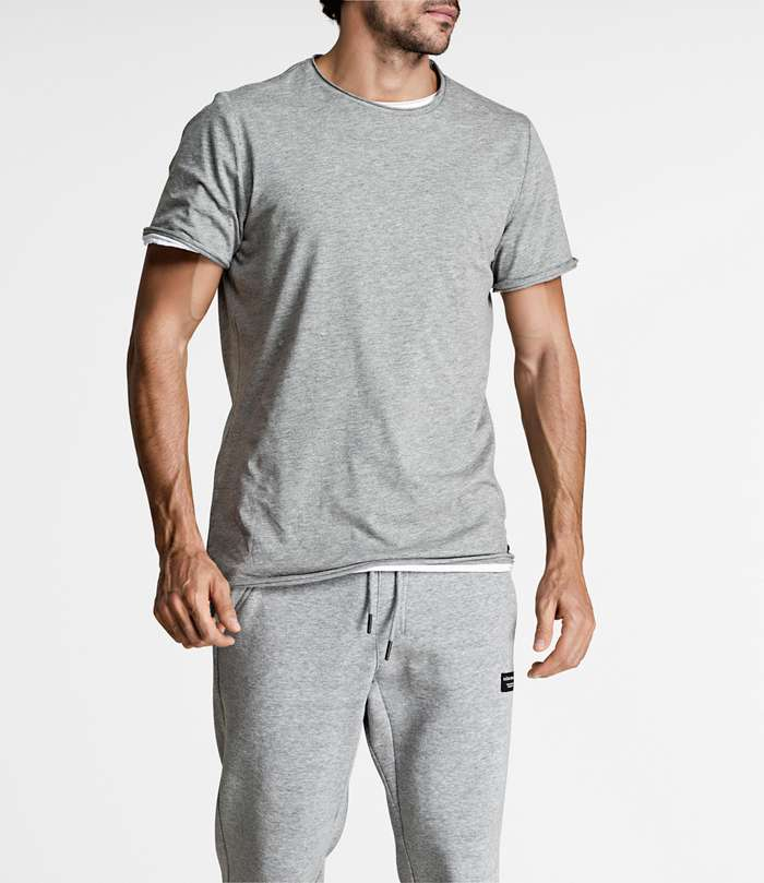 Björn Borg | 1p RELAXED TEE BBCENTRE H108BY LIGHT GREY MELANGE