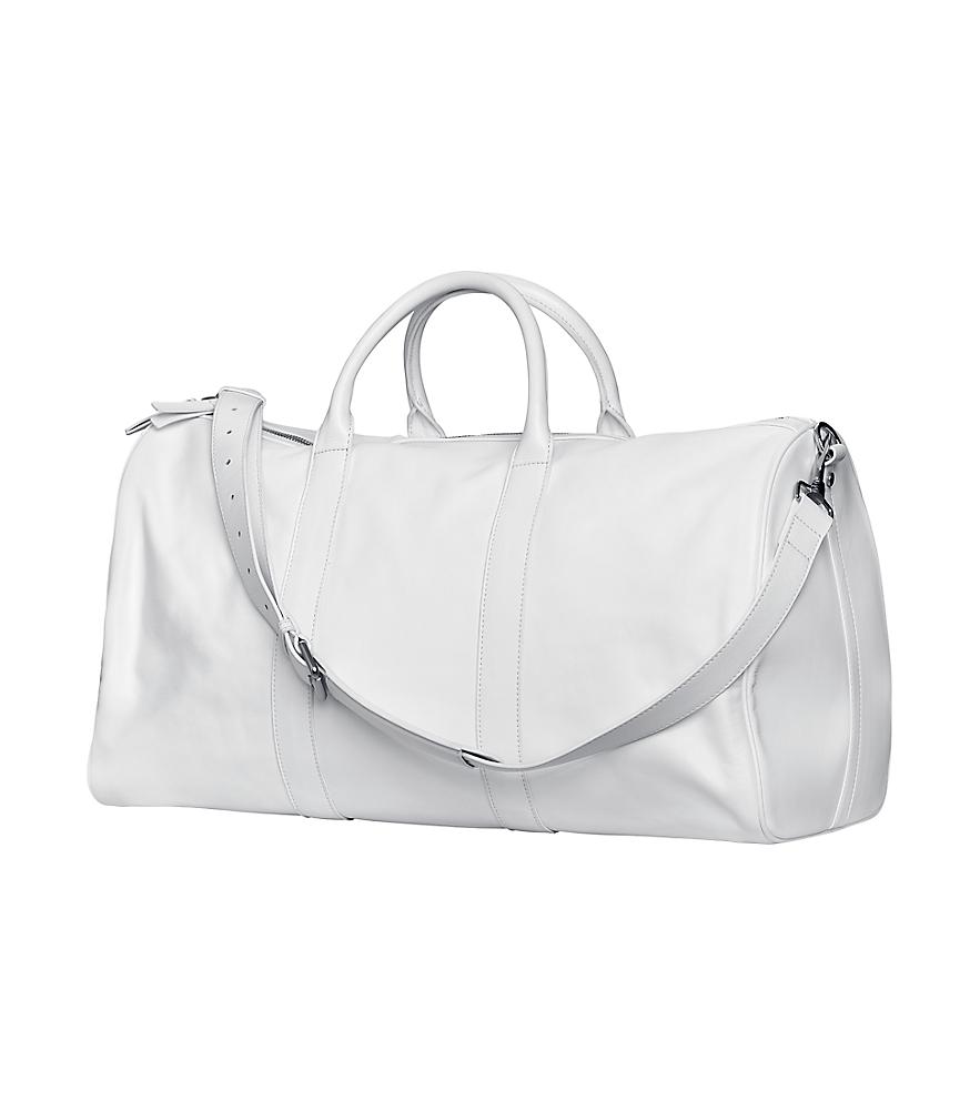 Achromatic Leather bag White