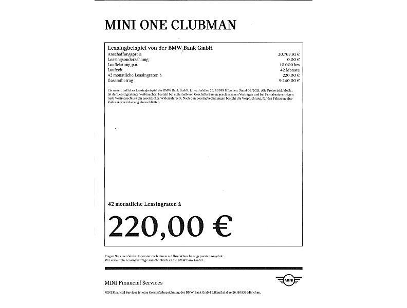 MINI One Clubman