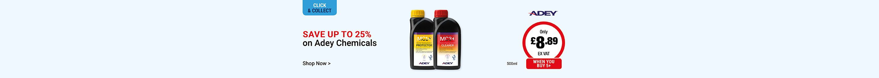 Save up to 25% on Adey Chemicals