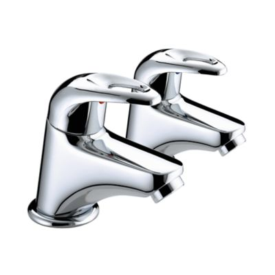 Bristan Java Bath Pillar Taps Chrome