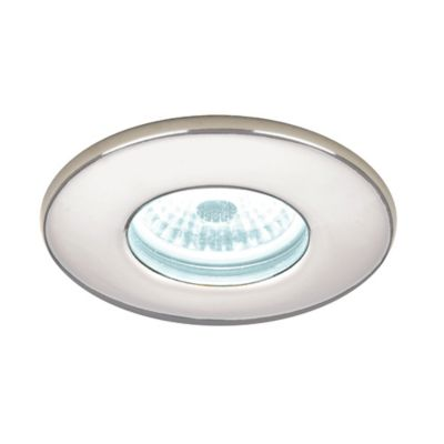 Hib 5840 Cool White Led Fire Rated Chrome Showerlight Width 85 mm
