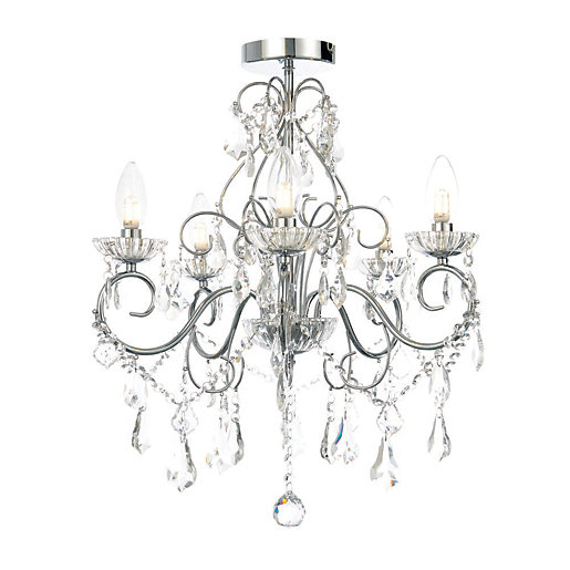 Vela Chrome Bathroom Chandelier - IP44 Rated | City ...