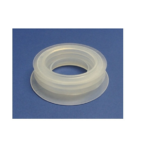 McAlpine Straight Flexible WC Connector Short Length White 3