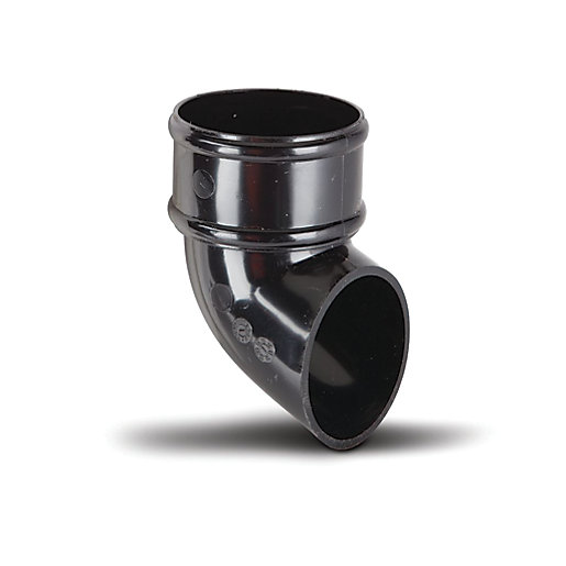 Polypipe Prr128B Round Rainwater Black 68mm Pipe Shoe