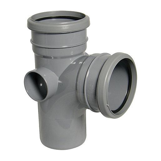 Floplast 110mm Grey Soil Pipe 92.5 Branch Double Socket