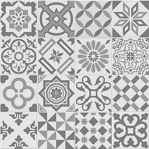 Antigua Grey Patchwork Matt Wall Amp Floor Tile 200 X 200 Mm