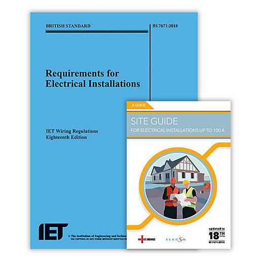 18th Edition Wiring Regulations + Site Guide on