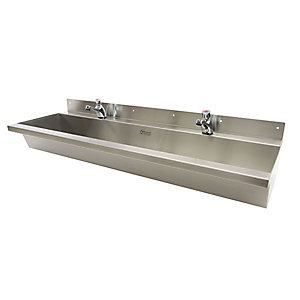 Acorn Wash Trough Wall Mounted 1800 Centre Waste