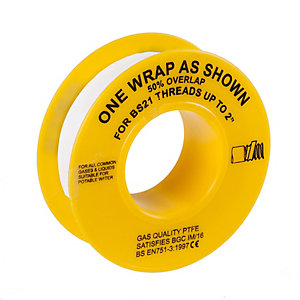PTFE Tape for Gas 5m x 12mm