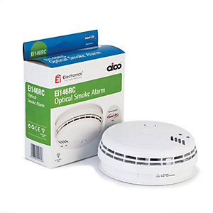 Aico EI146RC Mains Powered Optical Smoke Alarm with 9V Back-up