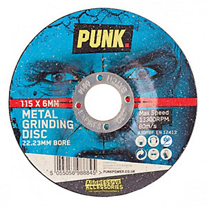Punk 115mm x 6.0mm x 22.23mm Metal Grinding Abrasive Disc