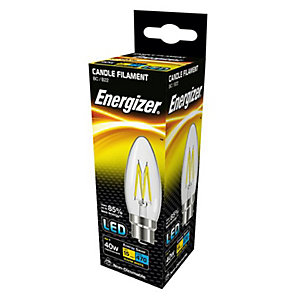 Energizer BC Candle Filament LED Light Bulb - 4W
