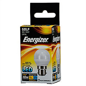 Energizer BC Golf Opal LED Light Bulb - 5.9W