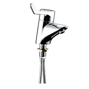 Armitage Shanks Contour 21 Washbasin Mixer, Thermostatic 1 Hole, Single Sequential Long Lever, Copper Tails. A4169AA