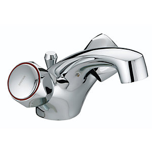 Bristan Club Dual Flow Basin Mixer With Pop Up Waste with Metal Heads Chrome