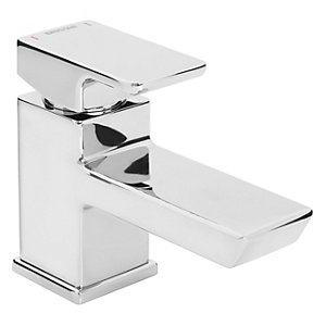 Bristan Cobalt Mono Basin Mixer Tap with Clicker Waste Chrome