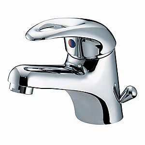 Bristan Java Basin Mixer Tap With Side Action Pop Up Waste 50 x 110 mm Chrome