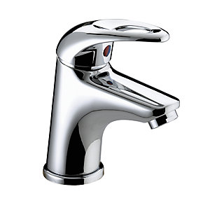 Bristan Java Small Mono Basin Mixer Tap With Pop Up Waste 50 x 130 mm Chrome