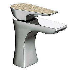 Bristan Metallix Hourglass Basin Mixer Champagne Shimmer
