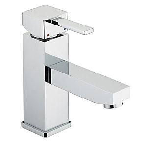 Bristan Quadrato Eco Basin Mixer Tap & Pop Up Waste Chrome