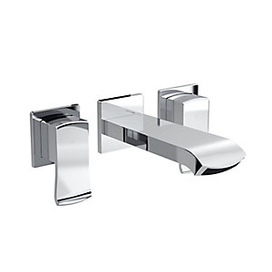 Dorona Wall Mounted Basin Mixer Chrome