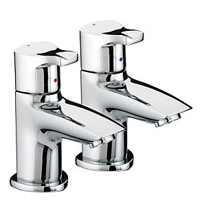 Bristan Capri Basin Pillar Taps Chrome
