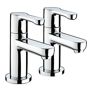 Bristan Nero 1/2 Basin Pillar Taps (Pair) Chrome