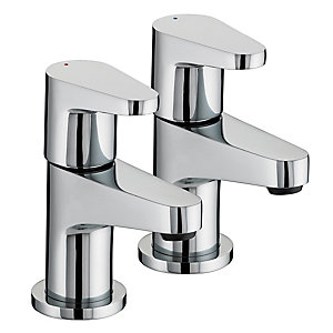 Bristan Quest Basin Taps Chrome